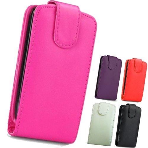 FI9 Custodia di pelle a portafoglio, in poliuretano, con pellicola protettiva per cellulari Samsung, Similpelle, - rose, Galaxy Ace Plus GT-S7500
