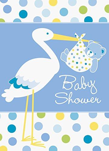 Storch Boy Baby Dusche Einladungen, 8Stück