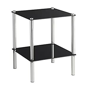 Vonhaus end table coffee table or side table for living - Glass side tables for living room uk ...
