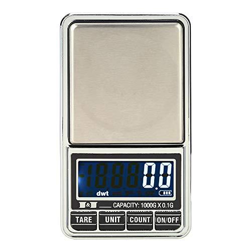 Laileya 1000g / 0.1g Balanza de precisión digital mini balanzas de bolsillo...
