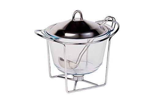 4 Liter Suppewärmer Speisewärmer Teelichthalter Warmhaltebehälter Wärmebehälter Stövchen Kasserolle
