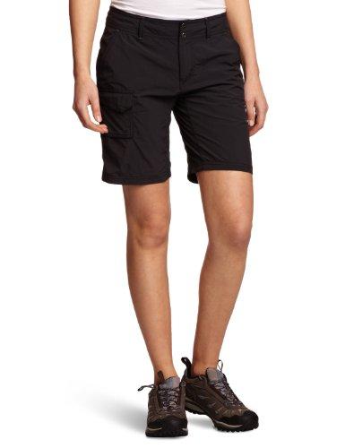 Columbia Hose Silver Ridge Damen Shorts, Schwarz,Gr. 38 EU (Innensaumlänge: 23cm/8) (Omni-8-schuh)