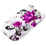kwmobile Hülle TPU Silikon Case für Samsung Galaxy S3 / S3 Neo mit Wasserrosen Design - Handy Cover Schutzhülle in Pink Schwarz Weiß
