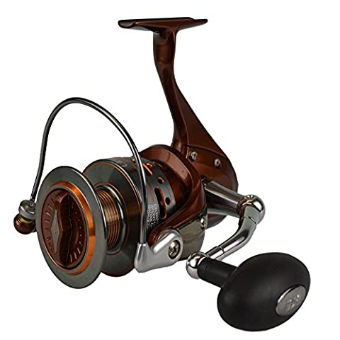 TICA SX Series Libra Spinning Reel with 10 Ball Bearings, Brown, 4-Pound/150-Yard