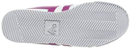 Gola Harrier Leather, Baskets Basses Femme, Blanc/Blanc Weiß (White/Hot Pink)