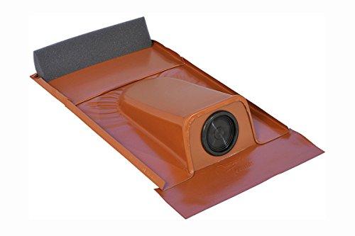 Dachdurchführung passend für Tondachziegel, Rot pulverbeschichtet