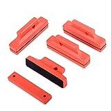 Winjun 4 Stück Autofolie Magnet Montage mit Abdeckung für Anbringen von Folie Tönungsfolie Fensterfolie Werkzeug, Rot