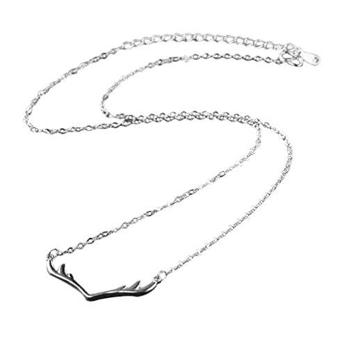 Preisvergleich Produktbild Hosaire 1 Stück Halskette Modeschmuck Kreativ Geweih Form Anhänger Necklace Kette
