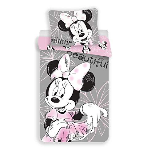Unbekannt Ropa de Cama Reversible de Disney, diseño de Minnie Mouse, tamaño: 140 x 200 cm, Almohada...