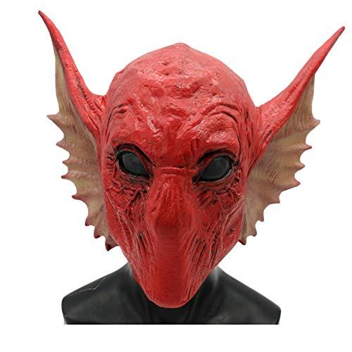 ske Schlange Alien Maske Kopfbedeckungen Halloween Party Party Requisiten Film Spiel Kopf Cosplay Latex Maske,Red-OneSize ()