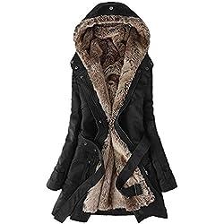 Luoluoluo Cappotti Donna Invernali - Cappotto Donna - Donne Fodera Cappotto  Donna Inverno Caldo Spessore Lunghi a6135e5eda2