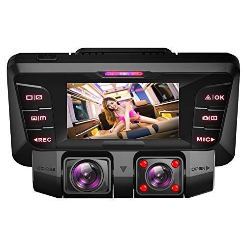 4K UHD Dashcam Auto, WiFi Vorne Hinten Autokamera mit Dual Sony 170 Grad Weitwinkel Lens, Infrarot,WDR Nachtsicht,Akku,Parkmonitor,Bewegungserkennung für Parküberwachung,mit Micro SD Karte 64 GB