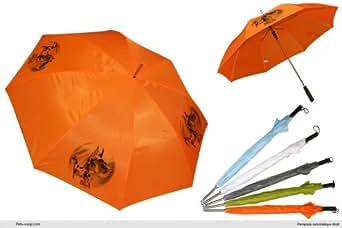 Parapluie Orange Golf chien Deutsche-Dogge-Arlequin