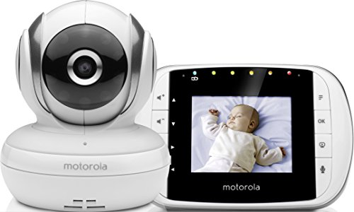 Motorola MBP 33S - Baby monitor video digitale con schermo LCD a colori da...