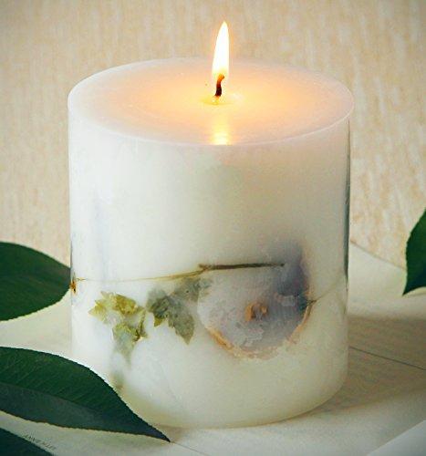 Galleria fotografica Candele Citronella Cera Naturale Anti Zanzare per Giardino Esterni 90 ore Campeggio Candela Candle