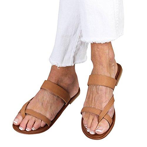 ba14f324b6b1a2 Outgobuy Damen Leder Thong Flache Ferse Sommer Sandalen Handgefertigt in  Griechenland Flip Flops (41EU