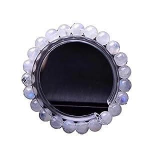 Luxuon SchmuckEdelsteinarmband, 10 mm handgefertigtes Edelsteinarmband aus Halbedelsteinen, 7,87 Zoll, Unisex