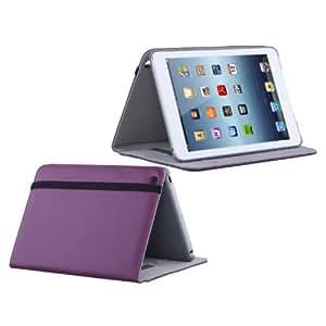 TeckNet® iPad Mini Dual-View Leather Case With Built-in Auto Sleep/Wake + Screen Protector + 2-in-1 Stylus Pen - Purple