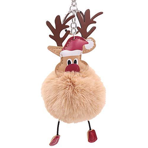 Llavero navidad Papá Noel Suave Bola Felpa