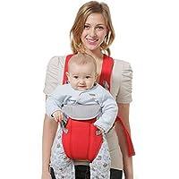 Hivel Respirante Porte Bebe Kangourou Echarpe de Portage Ventral Dorsal  Transporteur Sac Baby Carrier Baby Sling d56f48303e5