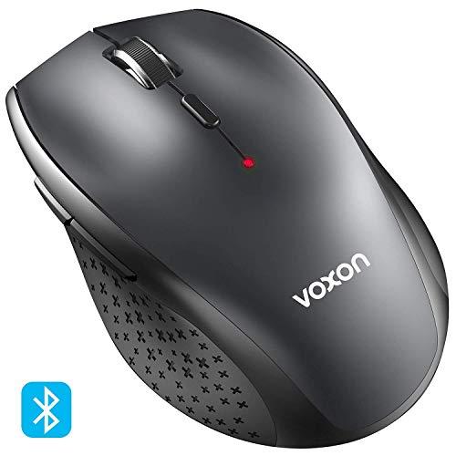 Bluetooth Mäuse, VOXON Wireless Kabellose Bluetooth Maus, 5 verstellbare DPI Level, bis zu 3000 DPI, 12 Monate Batterielaufzeit