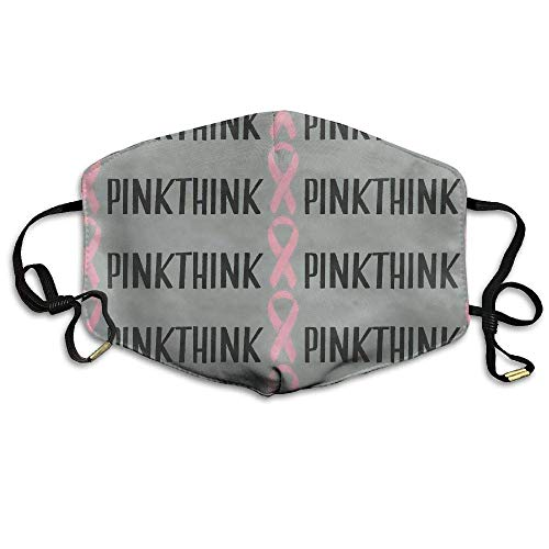 Breast Cancer Fleece (Breast Cancer Awareness Ribbon Pinkthink Face Mouth Mask Unisex Polyester Comfy Anti Dust Masks)