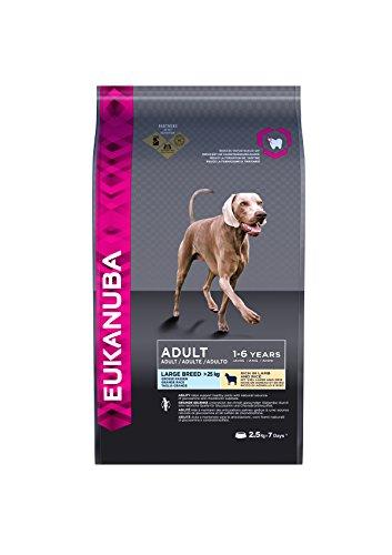 Eukanuba Alimento Completo per Cani Adulti di Taglia Grande Ricco di Agnello e Riso - 2.5 kg