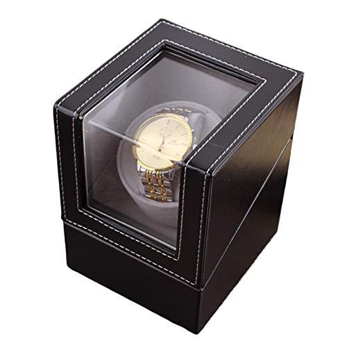 bxbx Uhrenbeweger,Automatischer Uhrenbeweger PU-Leder Kissen Lange Haltbarkeit Geräuschloser Motor Antimagnetisches Design Zwei Stromversorgungsmethoden Automatik Uhrenbeweger