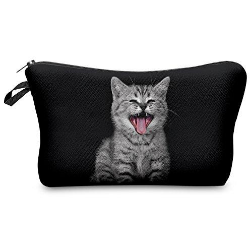 Cry Cat Katze Kosmetiktasche Federmappe Mäppchen Tüte Beutel Kulturbeutel Make Up Bag Beutel Makeup Kosmetikbeutel