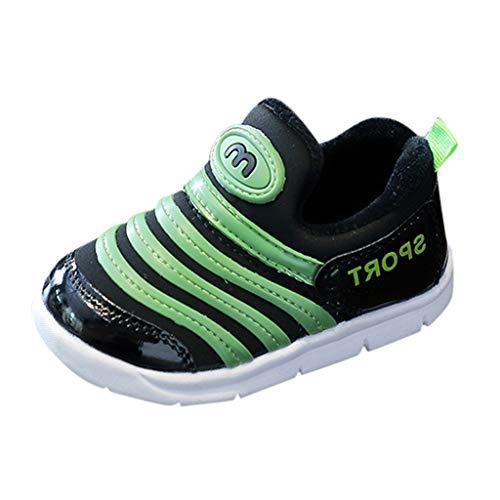 HDUFGJ Kinder Schuhe Sportschuhe Warm Futter Low-Top Sneakers für Mädchen Jungen Baumwollschuhe Laufschuhe Turnschuhe Klettverschluss Freizeitschuhe22 EU(Grün)