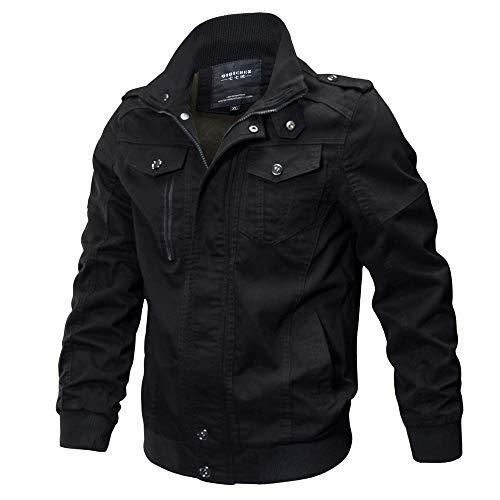Elsta Herren Winter Jacke Mantel Outdoor Funktionsjacke Freizeitjacke Taktisch Outwear Atmungsaktiv Mantel Langarm Hemden Warm Pullover...