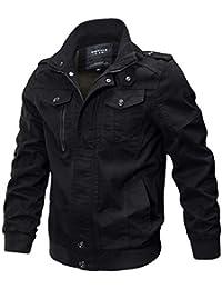 Homebaby Giacca Militare da Uomo Cardigan Cappotto con Tasca Anteriore  Aperto Pullover Maglione Caldo Sportiva Manica 17cb55202d2
