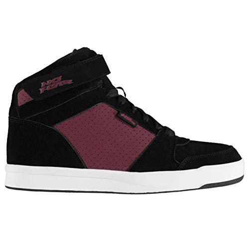 Burgund Skate (No Fear Herren Elevate 2 Hi Top Skate Schuhe Schwarz/Burgund 46 EU)