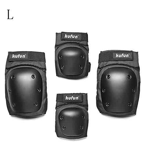 SHUANGXIU Balance Car Bicicletta Set di Protezioni Protettive di 4 Gomitiere Scarpe al Ginocchio per Bambini Bambini Roller Skate Protezione Gear-L (55-80 kg)