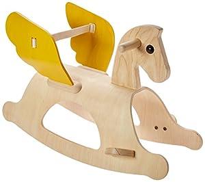 PlanToys Rocking Pegasus, Color Madera, Amarillo (3480)