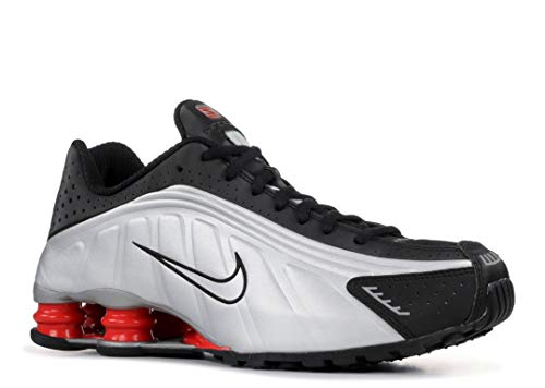 5ce381fc2b260 Nike Mens Shox R4 Sneakers New, White/Silver/Red BV1111-100