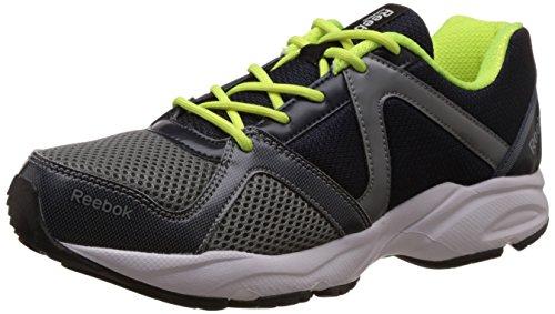 Reebok Men's Reebok Thunder Run Grey,Blue,Yellow,White And Black Running Shoes – 9 UK 41S2o6HhZVL
