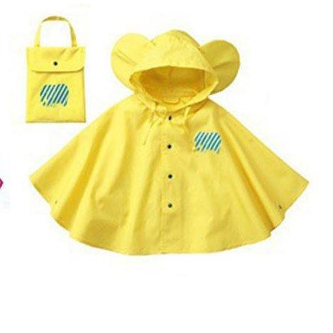 Mainaisi-Bambini-Poncho-Impermeabile-Waterproof-Big-Ear-con-Cappuccio-Button-Suit
