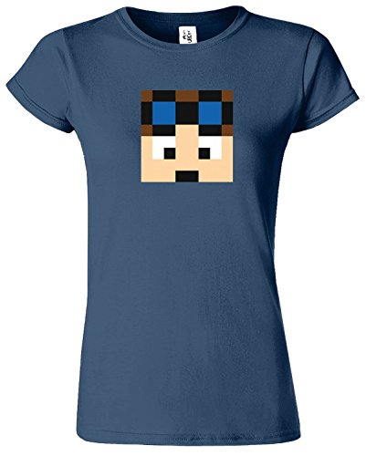 Dan TDM & Stampy Cat T-shirt des femmes drôles Slogan Bleu Indigo