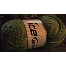 Ice Yarns Wool Deluxe/100% lana/Green/Turchia