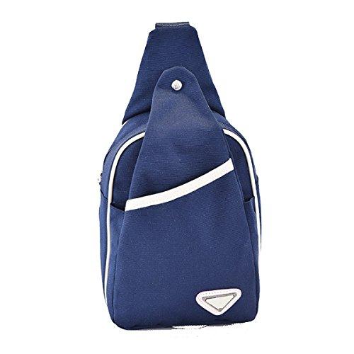 BULAGE Paket Herren- Einfarbig Nylon Kleine Brusttaschen Natur Reisen Freizeit Kleiner Rucksack Elegant Einfach Mahlzeiten Einkaufen Blue