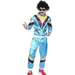MABOOBIE Déguisement costume tenue unisexe homme femme survetement annee 80 118 218 Shellsuit Hip Hop Breakdance