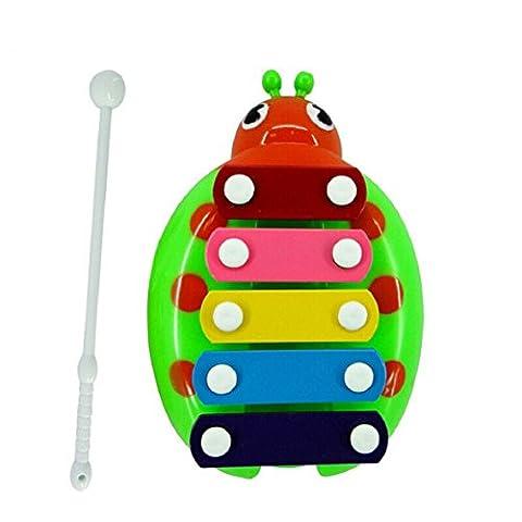 Amison Bébé enfant enfants 5-Note Xylophone Musical Toys sagesse développement Beetle G musicales jouets éducatifs des cadeaux de Noël pour les enfants (Grün)