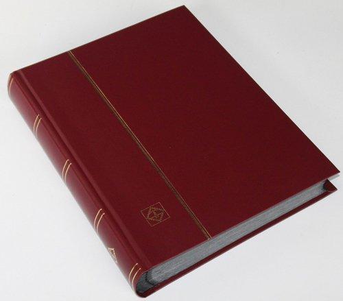 64 schwarze Seiten LEUCHTTURM Einsteckbuch Briefmarkenalbum Einband weinrot Test