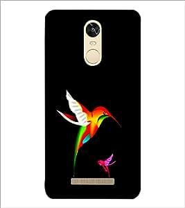 PrintDhaba Bird D-1226 Back Case Cover for XIAOMI REDMI NOTE 3 (Multi-Coloured)