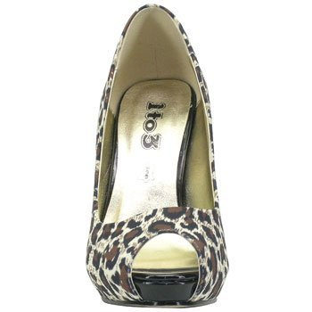 1TO3 - Chaussures pointe découvertes Animal print - Combi2