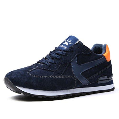 Men's Suede Vamp Comfortable Outdoor Running Shoes blue