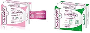 Lady Anion Sanitary Pads / Panty Liners Combo Pack (Day & Night Use)