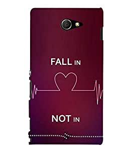 Fiobs Designer Phone Back Case Cover Sony Xperia M2 Dual :: Sony Xperia M2 Dual D2302 ( Fall in Love Not In Quotes )