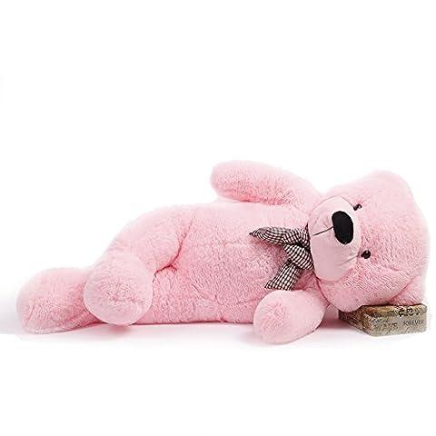 DIS Pink Teddy bear Giant Huge Cuddly Stuffed Animals Plush Doll Toy